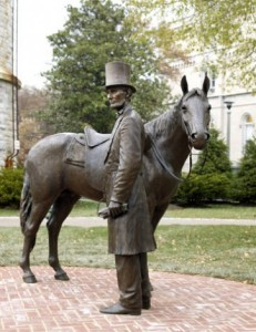 Sculpture by Ivan Schwartz: Lincoln's Cottage at Soldiers' Home