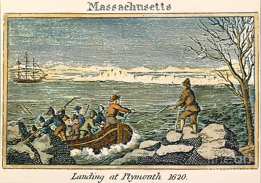How Many Mayflower Pilgrims Landed At Plymouth Rock Today